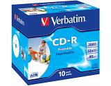 Verbatim CD-R AZO Wide Inkjet Printable 700 MB 10 pc(s)