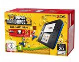 "Nintendo 2DS Blue/Black + New Super Mario Bros. 2 Pack 3.53"" Touchscreen Wi-Fi Black,Blue portable game console"