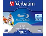 Verbatim BD-R SL 25GB 6x Printable 10 Pack Jewel Case BD-R 25GB 10pc(s)