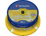 Verbatim DVD+RW Matt Silver 4.7 GB 25 pc(s)